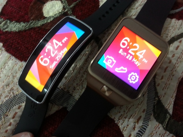 Samsung Gear Fit and Gear 2