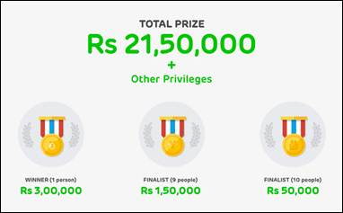 Prize Money to be won in Line Sticker Design competition