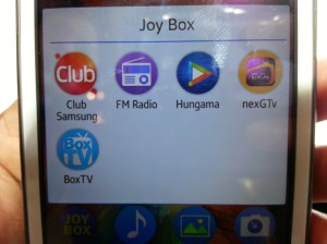 Joy Box entertainment package in Samsung Z1