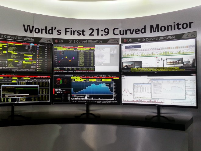 LG curved monitors