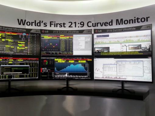 LG curved monitors