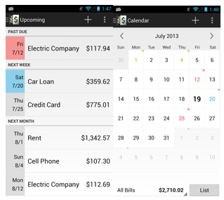 BillMinder via Google Play Store