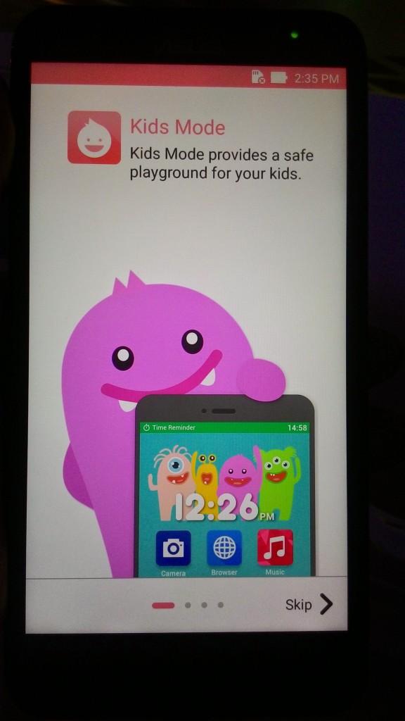Kids Mode of ASUS ZenFone 2